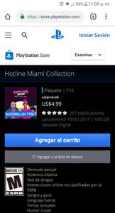 PSN: Hotline Miami Collection Ps4 75% descuento sin plus