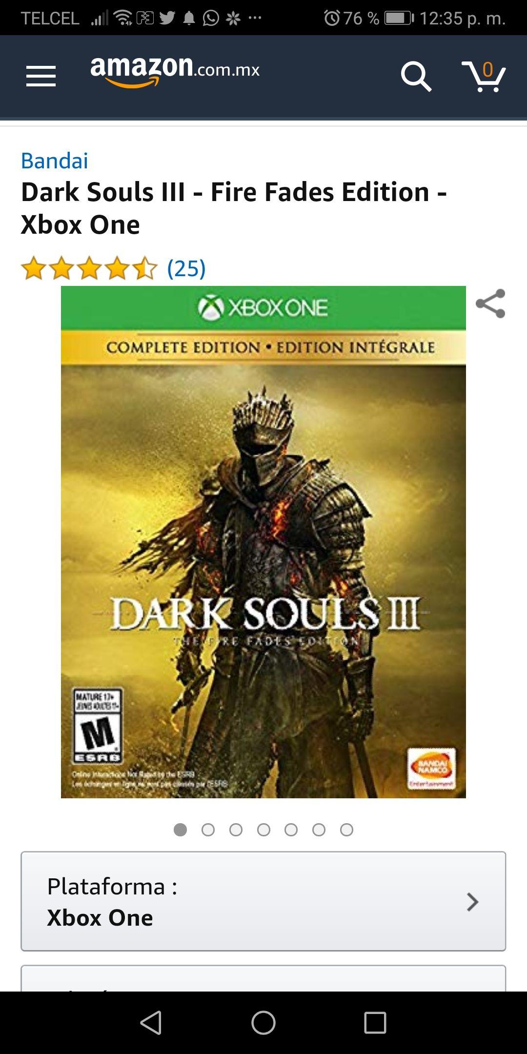 Amazon: dark souls lll Fire fades Edition para xbox one y ps4