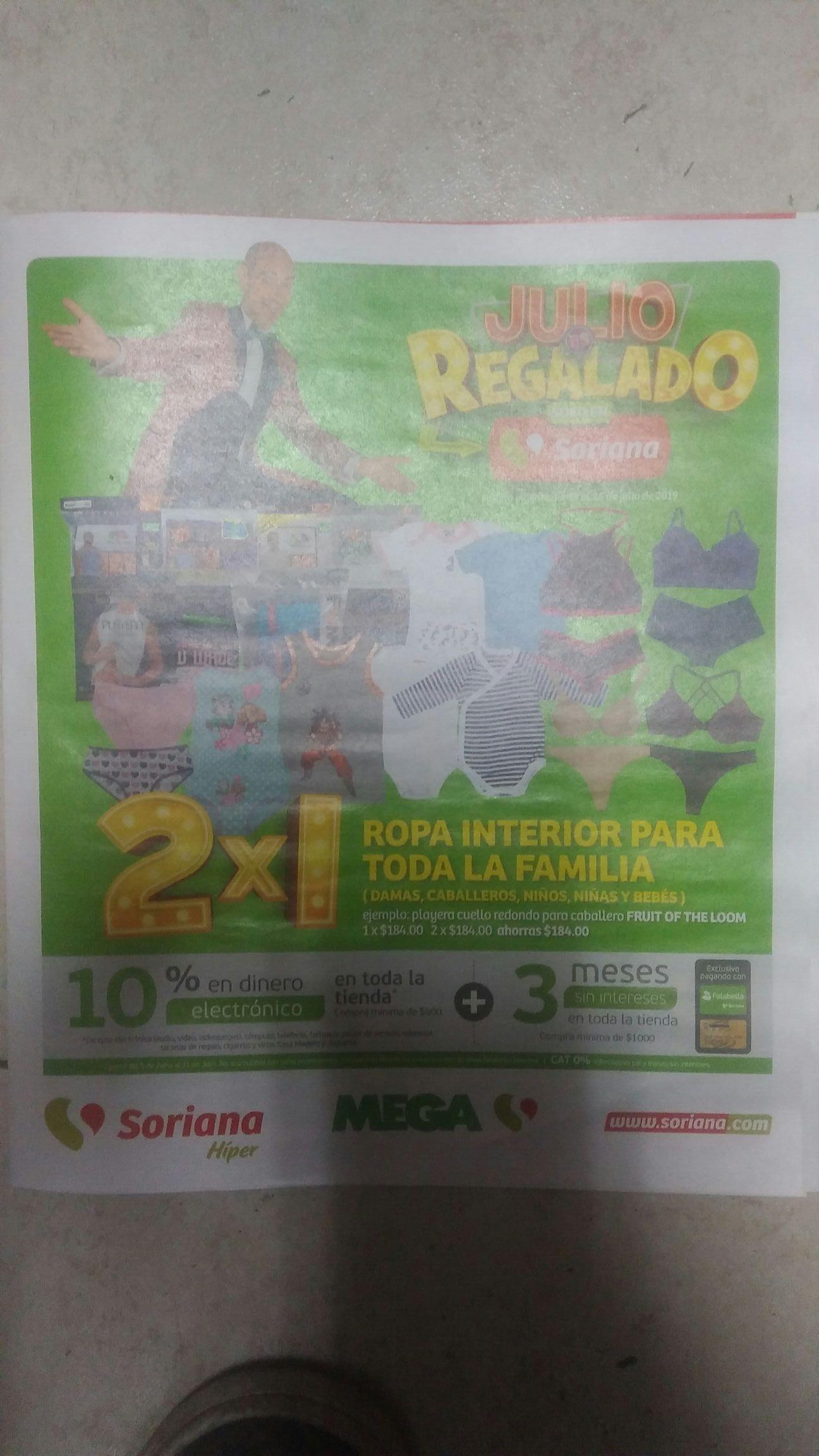 Soriana Híper y MEGA: Folleto de Ofertas Julio Regalado Zona Centro