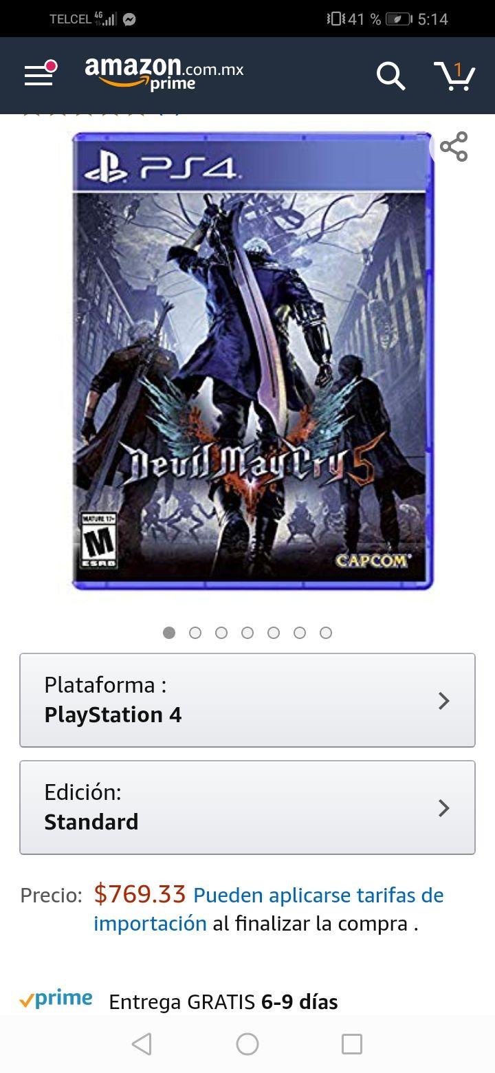 Amazon: Devil May Cry 5 para PlayStation 4