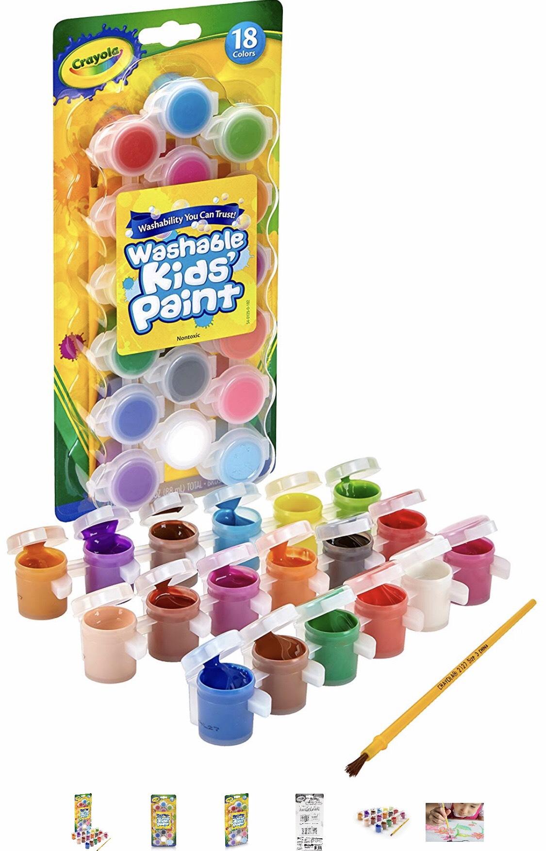 Walmart  en línea : Pinturas lavables crayola 18 piezas