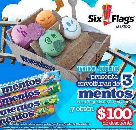 Six Flags: mitad de precio pagando con HSBC o descuento con Fanta y Mentos