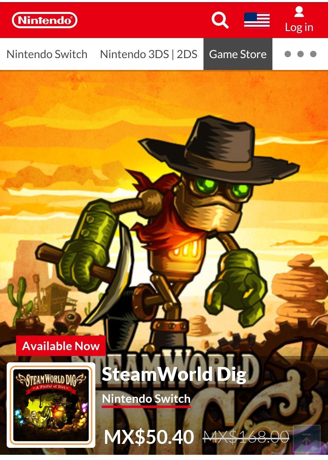 Nintendo eshop: SteamWorld Dig