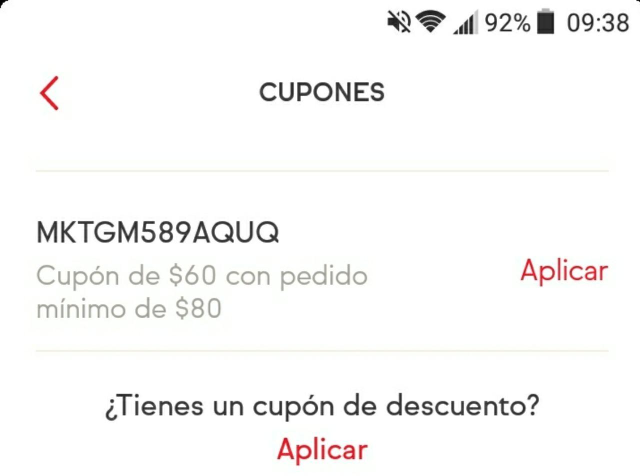 Sin delantal: descuento de $60 en compra de $80, confirmen si les aplica o entren a la app y revisen