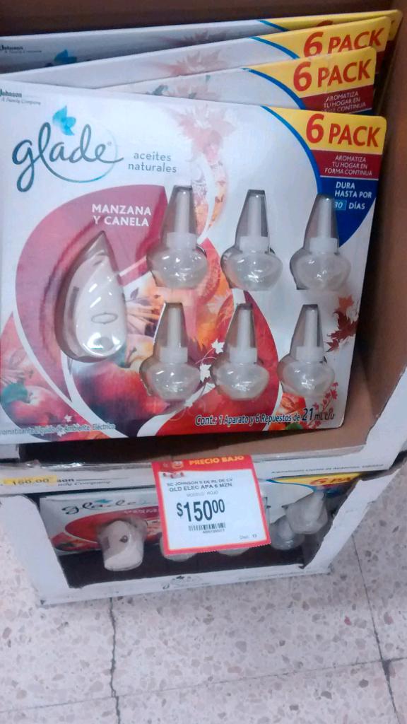 Walmart: 6 aromatizantes glade mas aparato