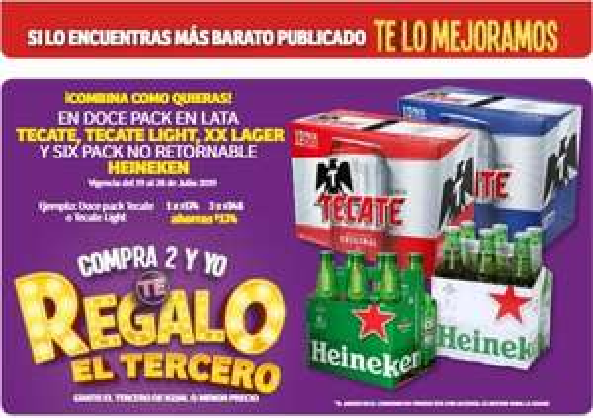 Cerveza 3x2 en Mega Soriana y Soriana Híper