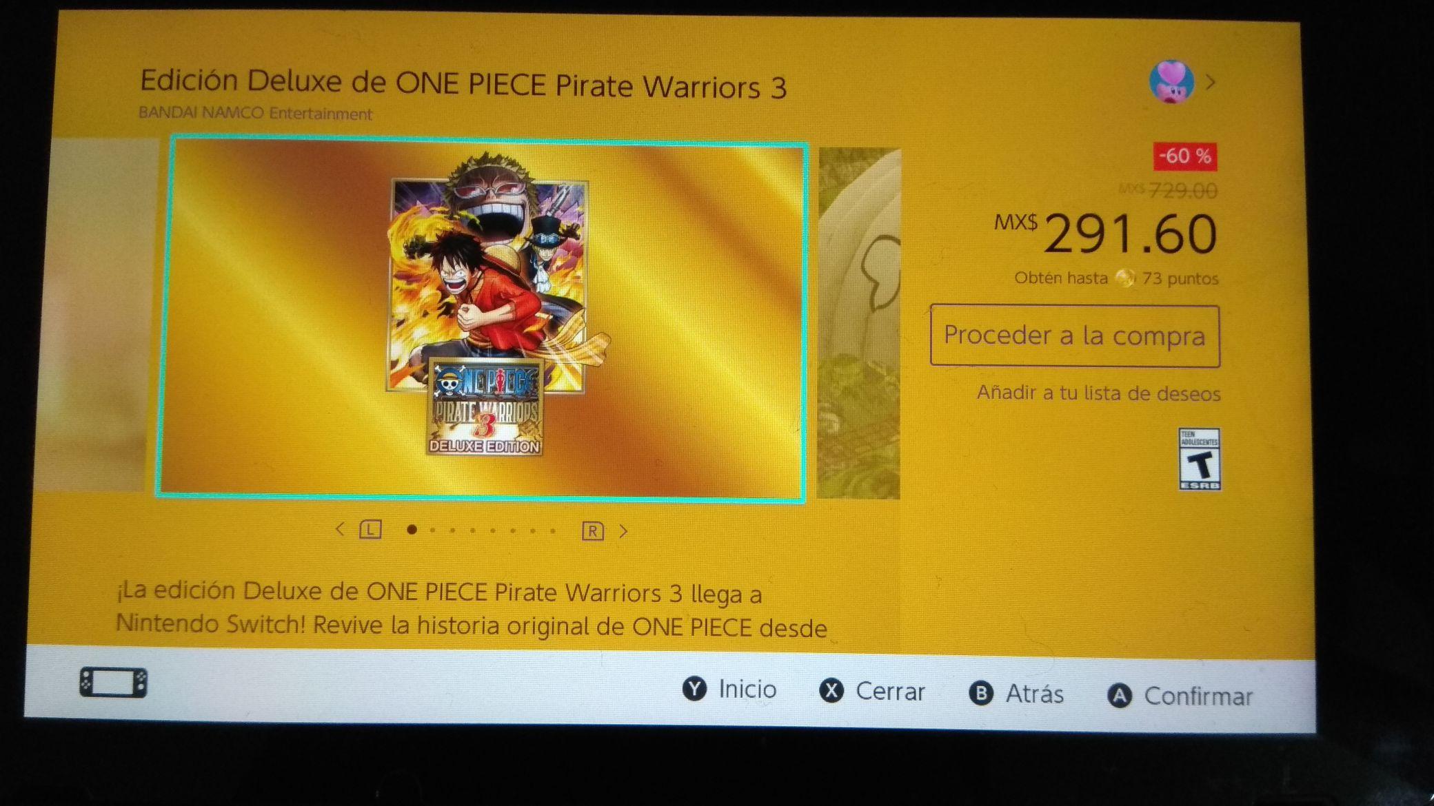 Nintendo eShop: One Piece Pirate Warriors 3 -