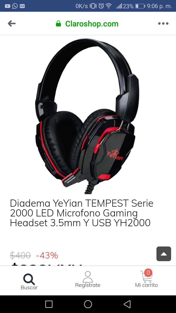 Claroshop: Headset yeyian tempest gaming