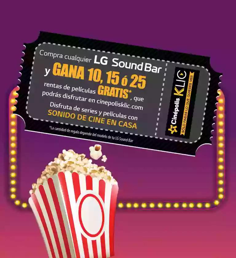 Cinepolis Klic: Rentas gratis al comprar una LG Sound Bar