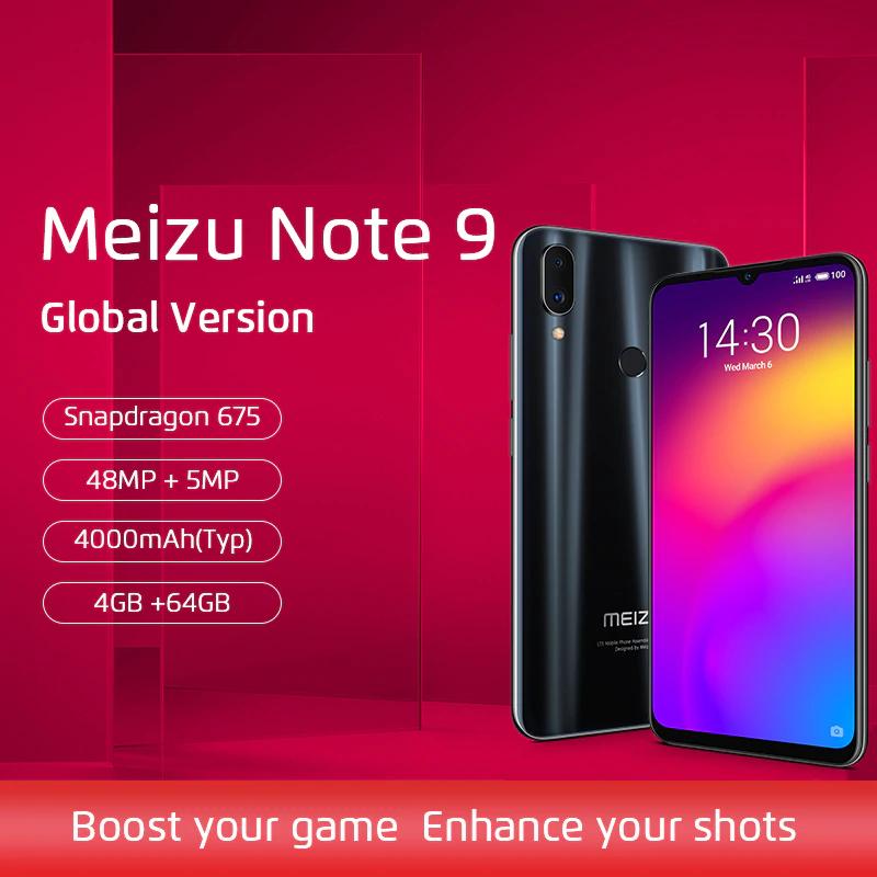 Aliexpress: Meizu Note 9 NEGRO 4GB/128GB Snapdragon 675 (envío incluido)