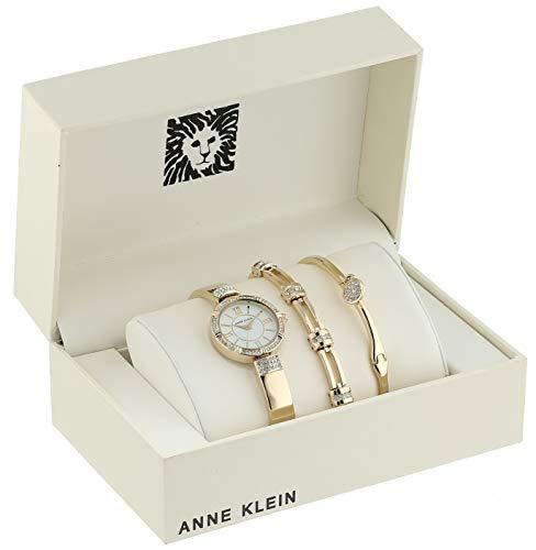 Amazon: Anne Klein - Juego de reloj y pulsera dorado y rose gold PRIME