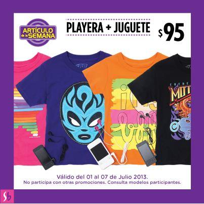 Artículo de la semana Suburbia: playera más juguete $95