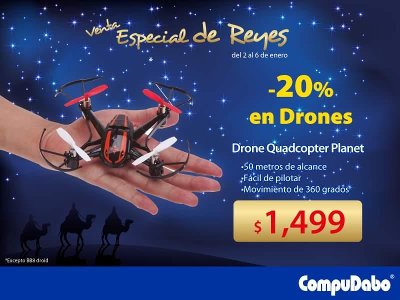 CompuDabo: 20% de descuento en todos los drones (excepto BB8 droid) y mas