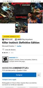 Microsoft Store: Killer Instinct: Definitive Edition ( para Xbox,  surface y PC)