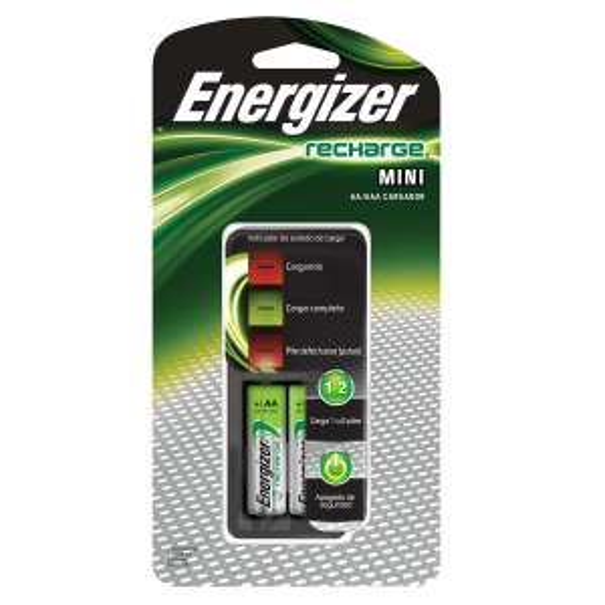 Sanborns Cargador Energizer + 2 Pilas recargables AA