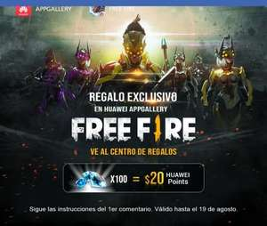Diamantes en free fire gratis (Solo Huawei)