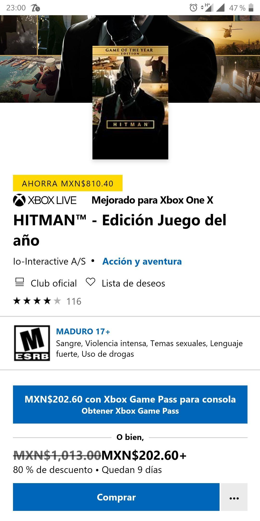 Microsoft Store: Hitman Edición Juego del Año para Xbox One