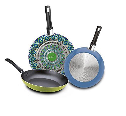 Amazon: Ekco 81188 Sartenes Photopaint, color Verde, 18/20/24 cm, 3 Piezas