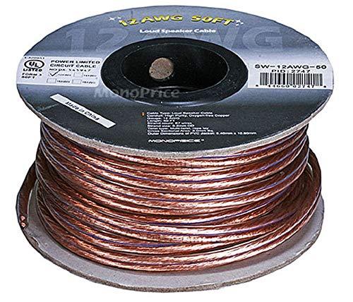 Amazon: Monoprice 102747 - Cable de cobre para altavoces libre de oxígeno 15,2 m 12AWG