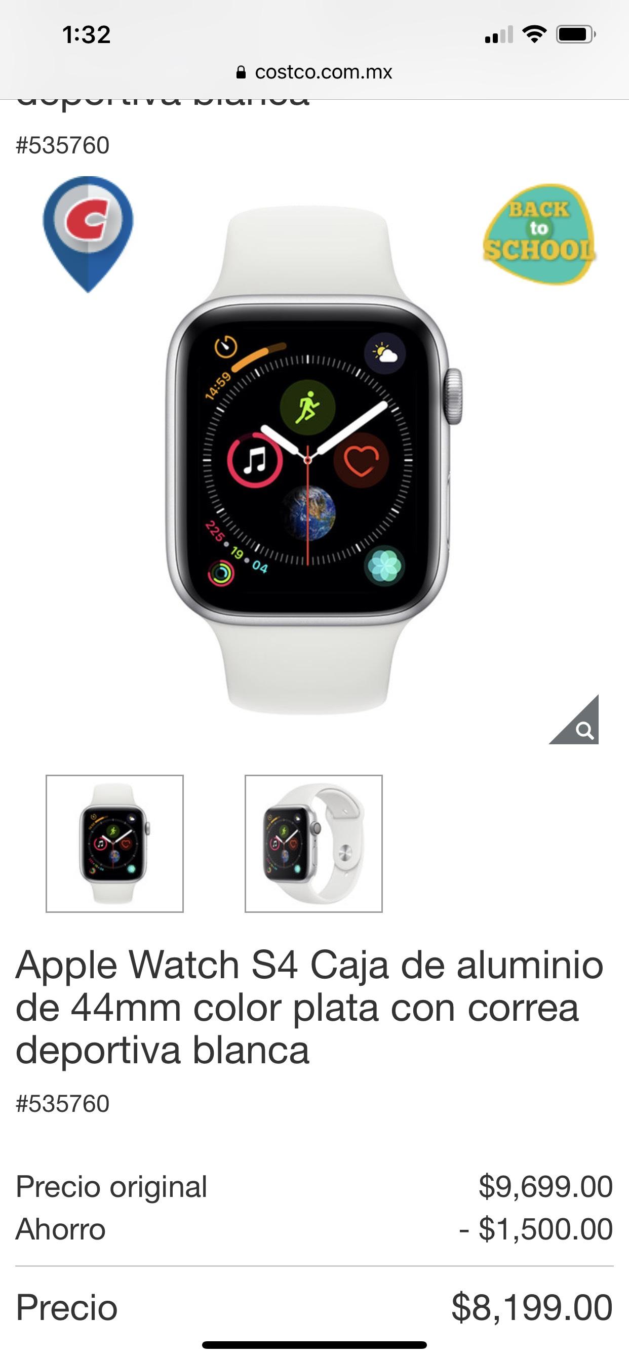 Costco apple watch s4 44mm pagando con visa