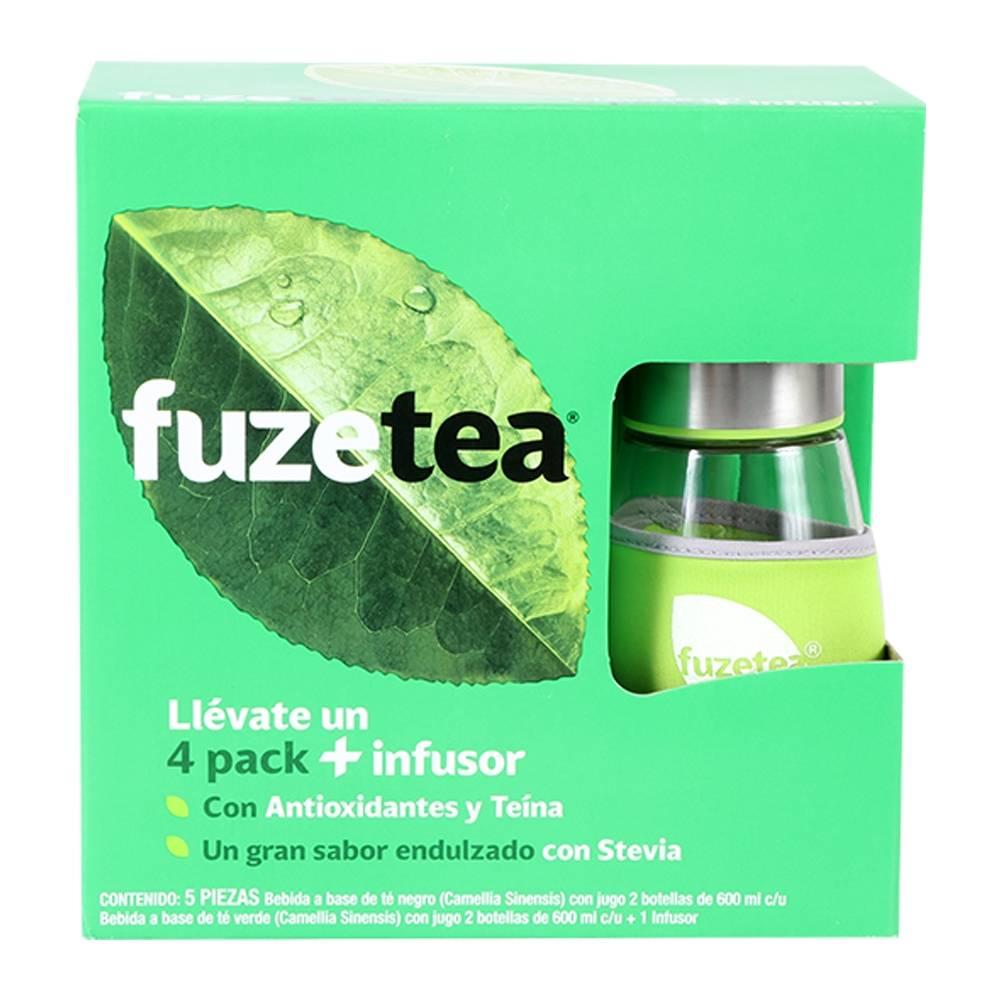Walmart Súper: Té Fuze Tea 4 pack 600 ml c/u + infusor