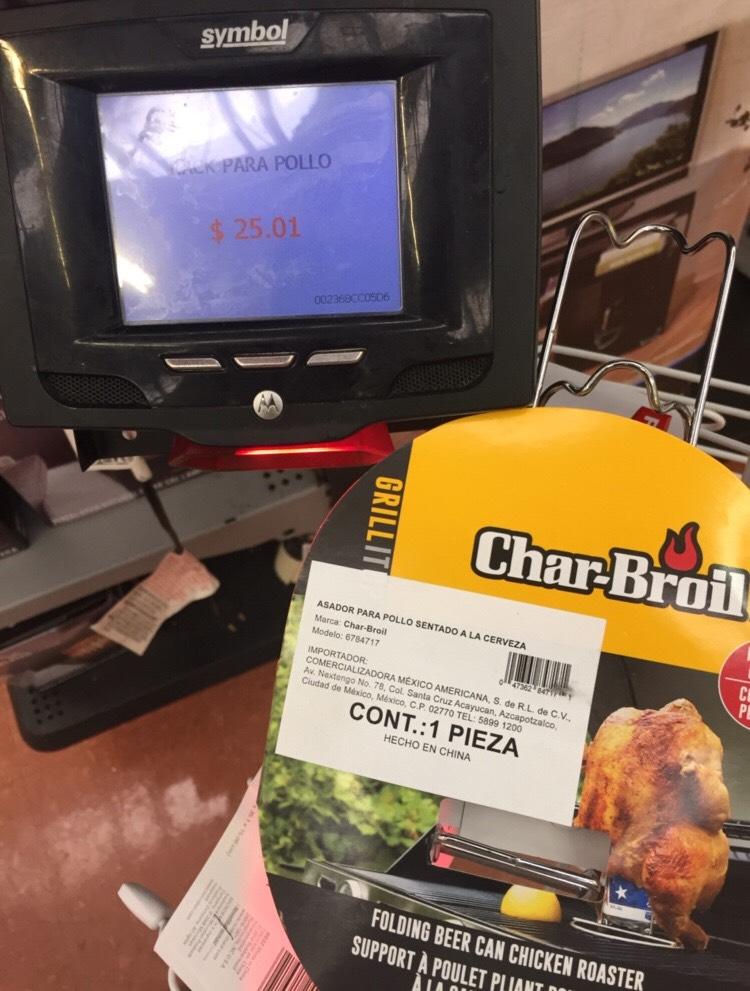 Walmart: Asador para pollo sentado 25.01