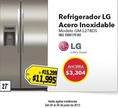 Best Buy: refrigerador Duplex LG 27' $11,995 y licuadora Moulinex $350