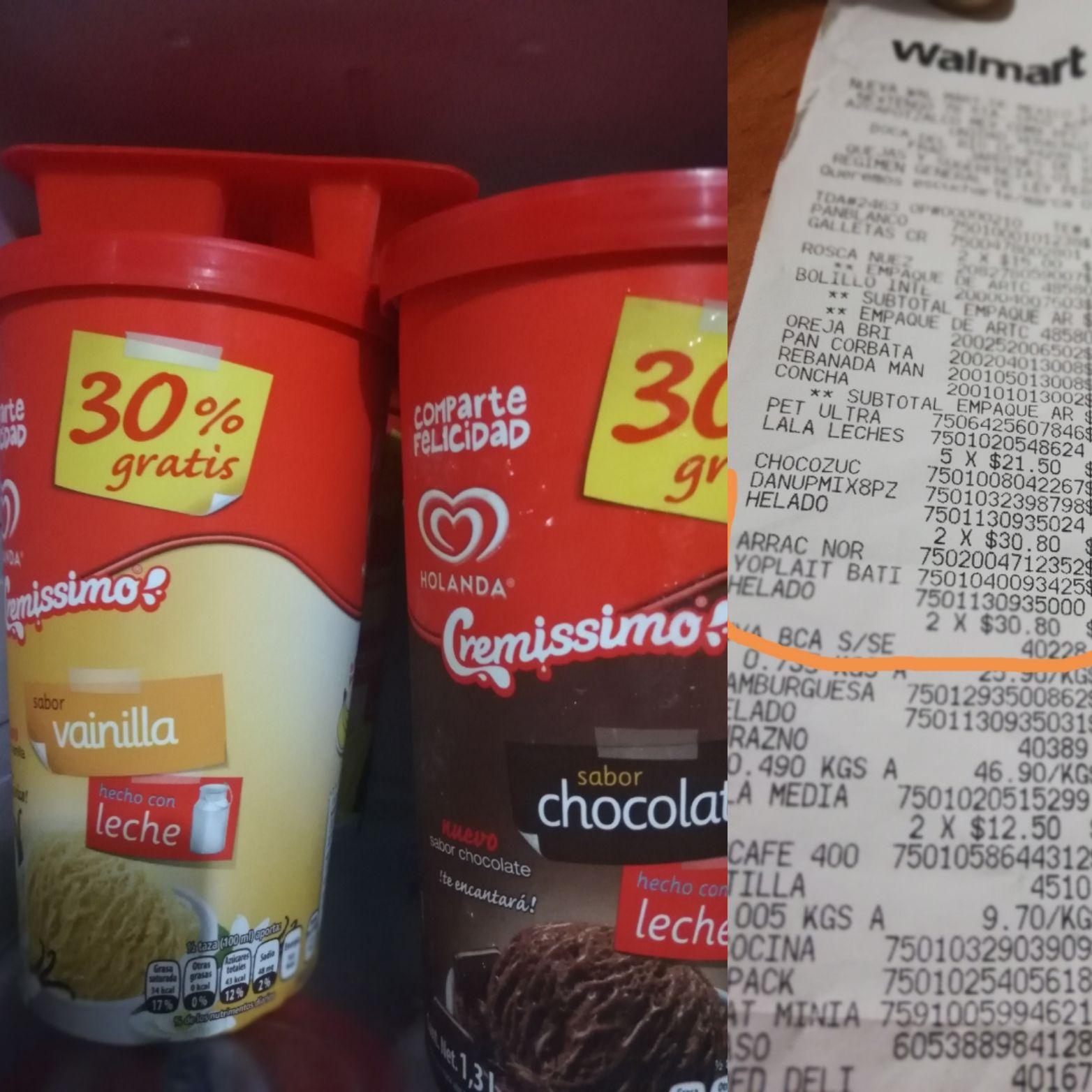 Walmart: Helados y variedad de sabores de Holanda a un súper precio