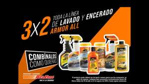 AutoZone: 3x2 en productos Armor All