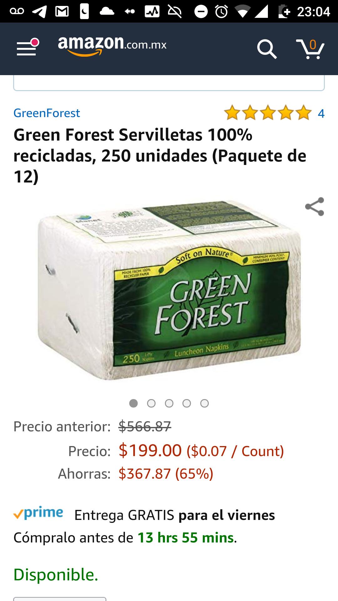 Amazon: 3,000 servilletas por $199