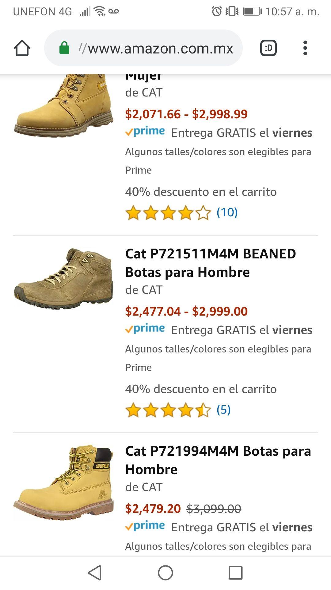 Amazon: Productos cat con el 40% de descuento