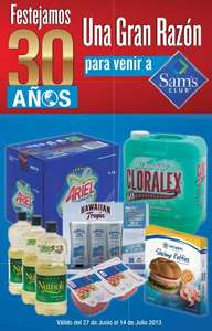 Cuponera Sam´s Club del 27 de junio al 14 de julio