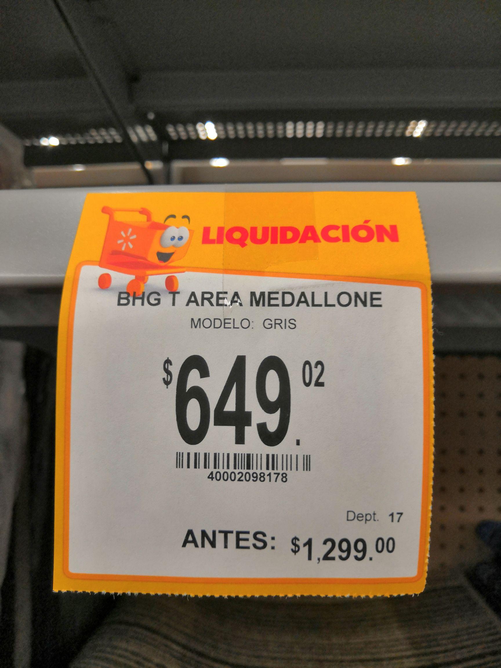 Walmart: Tapete De Sala Grande 2.13 X 1.52 m