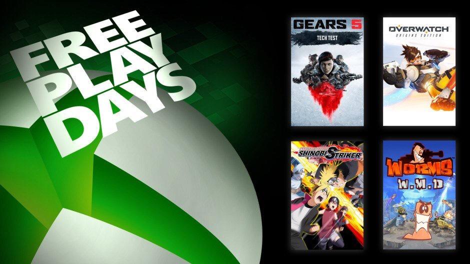 Días de juego gratis con Gold (Gow5, Overwacht, Naruto yo Boruto.. y Worms W.MD