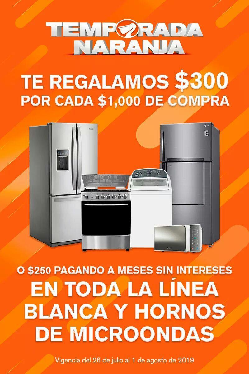 La Comer: Temporada Naranja 2019: $300 de descuento por cada $1,000 en Línea Blanca y hornos de microondas