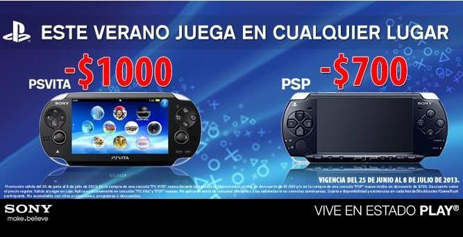 $1,000 de descuento en consolas PS Vita y $700 en consolas PSP
