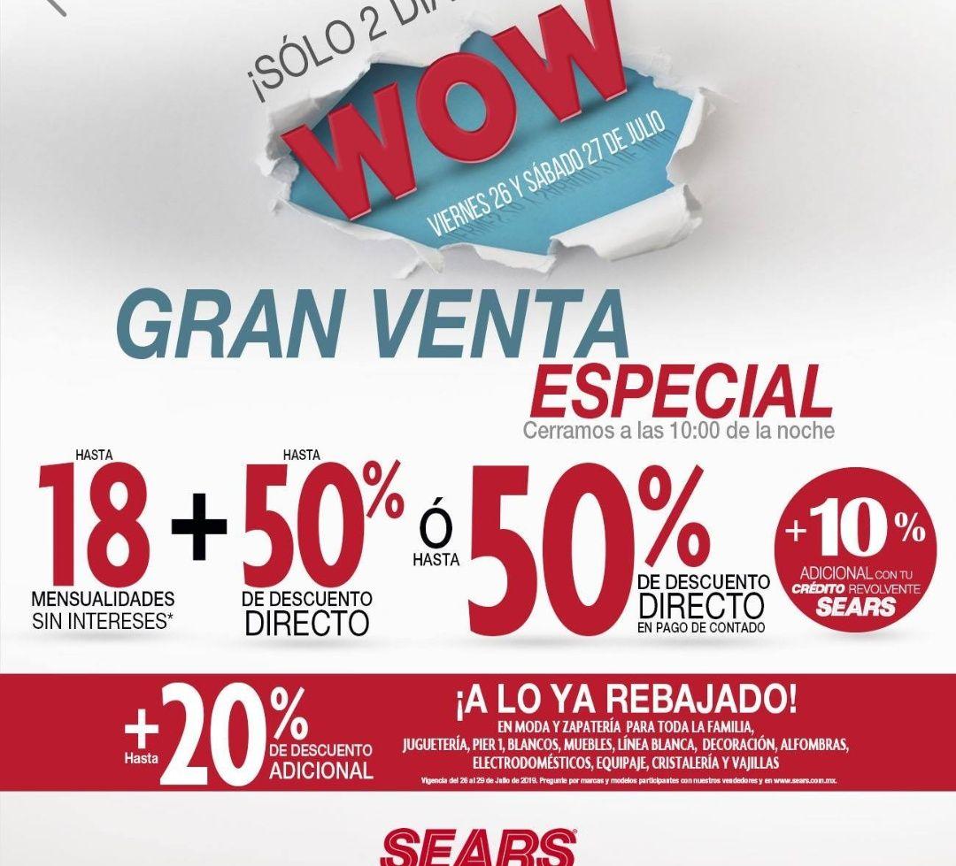 Sears: Gran venta especial 26 y 27