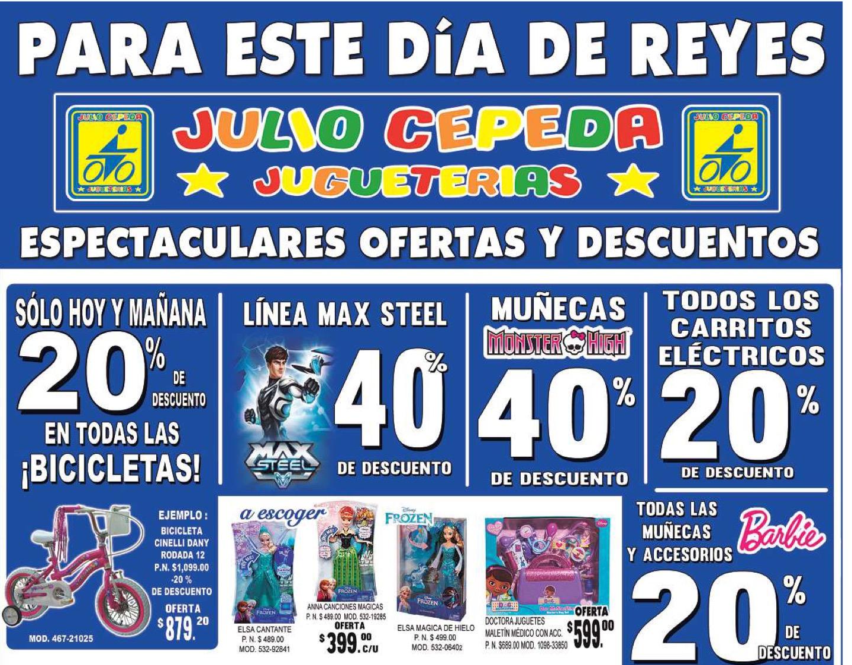 Jugueterías Julio Cepeda: 40% en Monster High y Max Steel y más descuentos