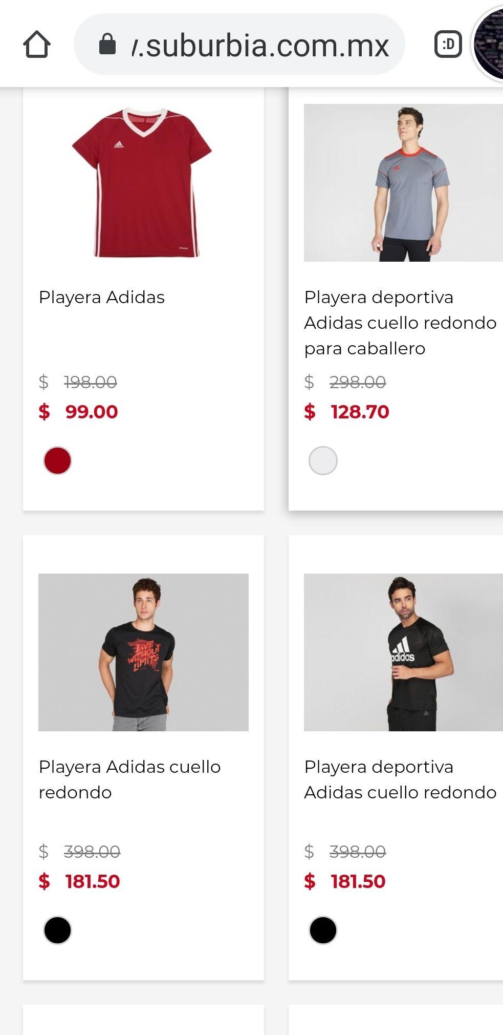 Suburbia: playeras ADIDAS desde 99