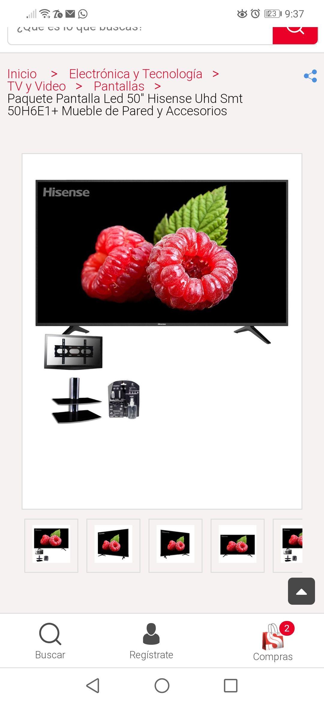 sears Tele + accesorios + mueble de pared