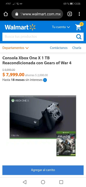 Walmart: XBOX ONE X REACONDICIONADO