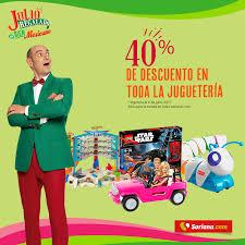 Julio Regalado Soriana 40% descuento en todos los juguetes importados