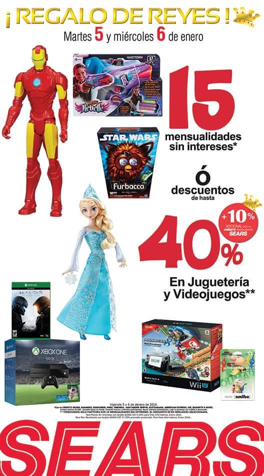Sears: hasta 40% + 10% adicional ó 15 msi en juguetes y videojuegos