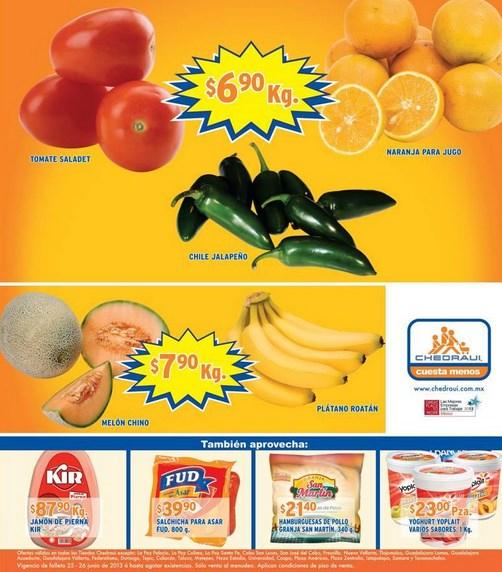 Miércoles de Chedraui junio 26: tomate $6.90, cebolla $3.90 y más