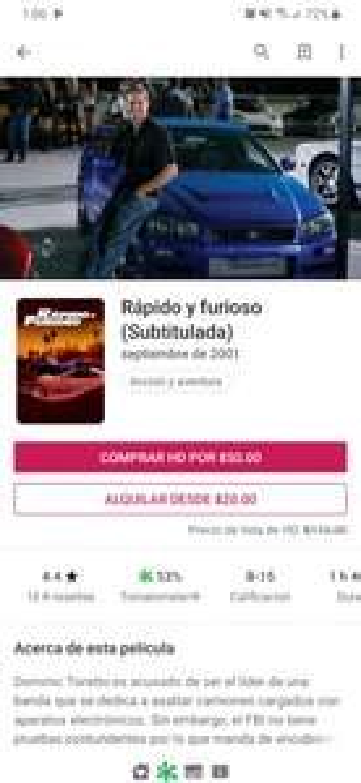 Google Play: 8 películas Fast & Furious, Saga Completa Digital