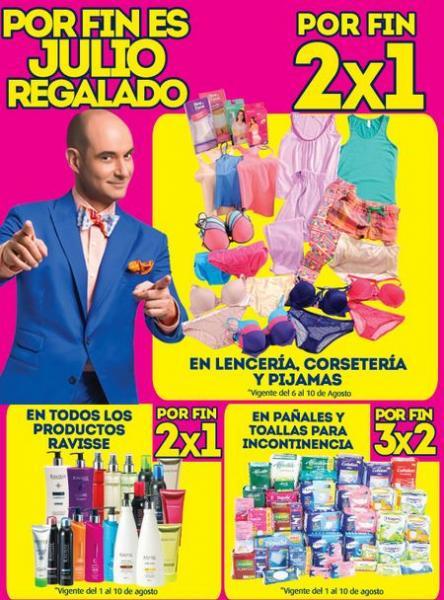 Ofertas de Julio Regalado en La Comer: 2x1 en lencería, corsetería y pijamas