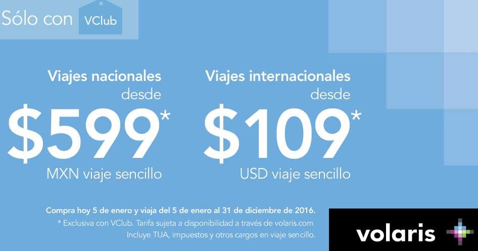 Volaris: vuelos nacionales desde $599 y USA desde $109 dólares con VClub (incluye Santa y Pascua)