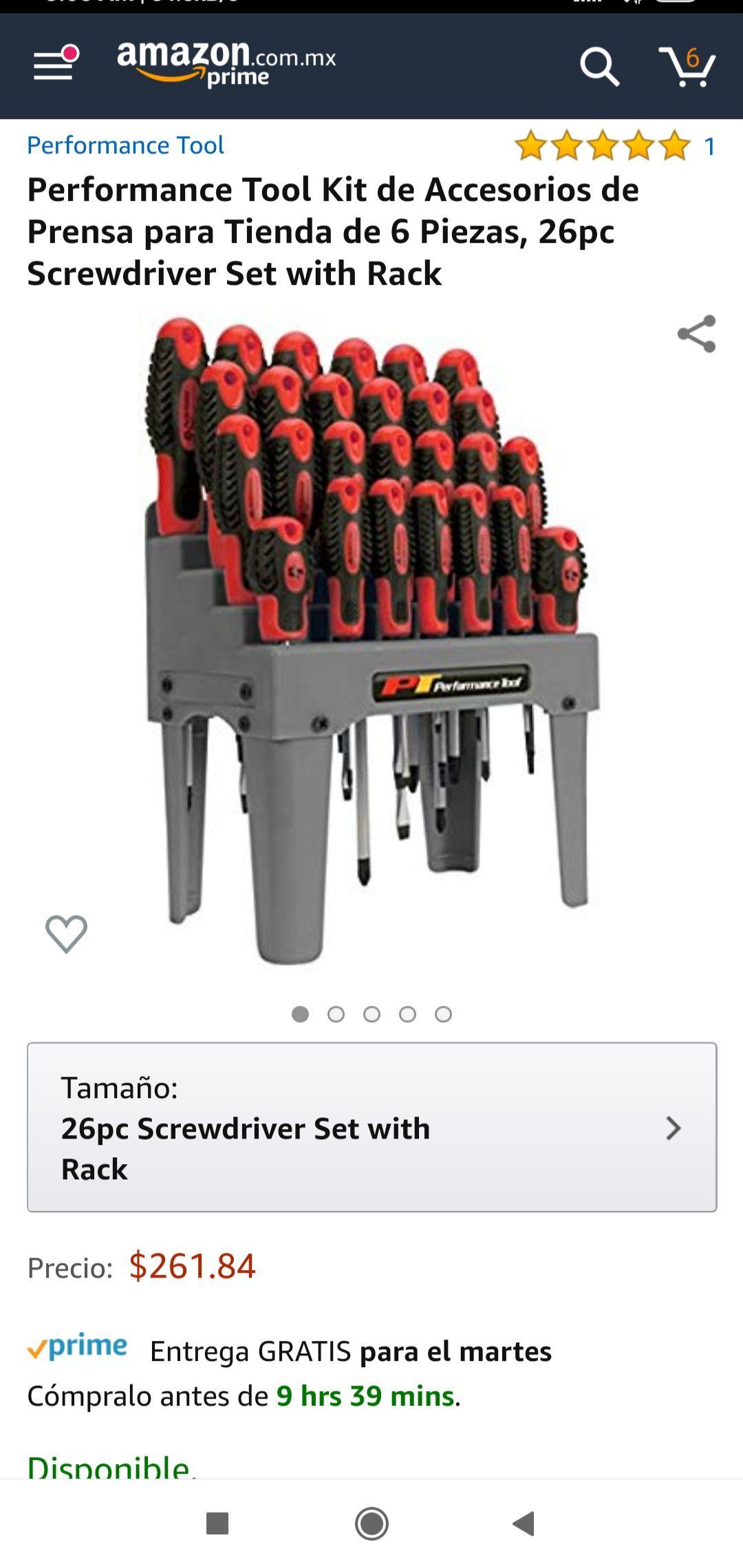 Amazon: Set de 26 desarmadores con base
