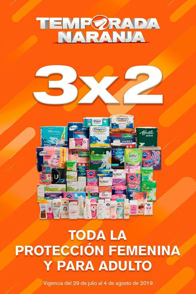 La Comer: Temporada Naranja 2019: 3 x 2 en protección femenina y para adulto