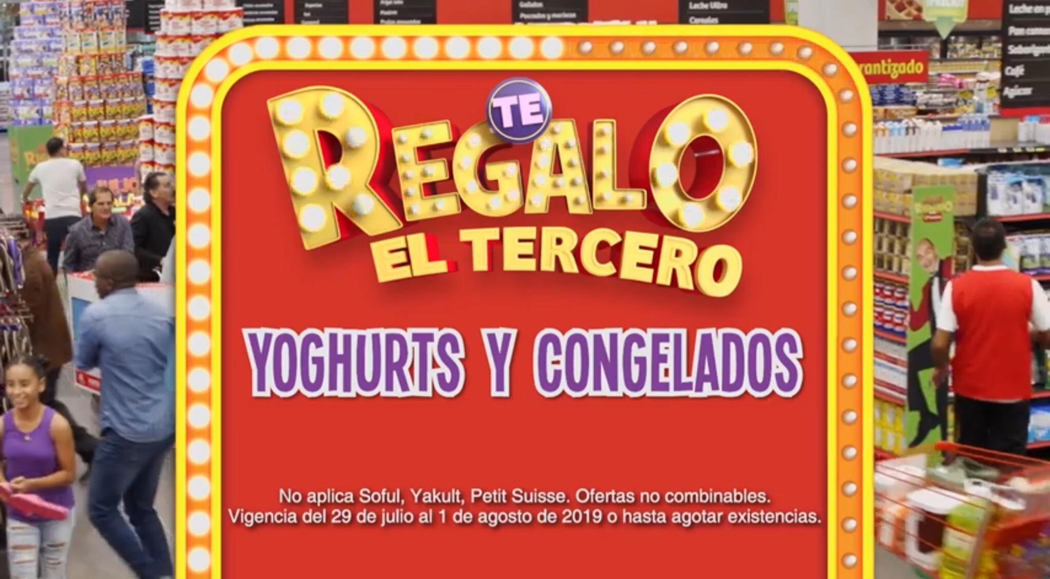 Julio Regalado 2019 en Soriana: Yoghurt y Congelados